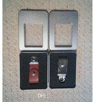 venda por atacado drives flash usb couro-256GB 128GB 64GB USB Chaveiro Couro Pen Thumb Memória Memory Stick Drive + Blister personalizado logotipo impressão em caso de embalagem