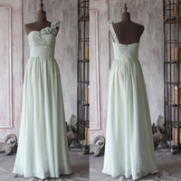 best chart colors - Real Image Best Quality Custom Made Colors New Plus Size Long Chiffon Bridesmaid Dresses One Shoulder Flower Prom Gown Evening Dress