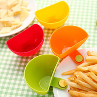 Wholesale 1pcs Dip Clips Kitchen Bowl kit Tool Small Dishes Spice Clip For Tomato Sauce Salt Vinegar Sugar Flavor Spices TT68