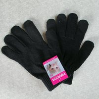 Wholesale Cheap promotional pure black magic gloves acrylic gloves outdoor gloves gloves students