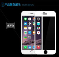 Wholesale colorful white black color mm Front full Film Screen Protector inch Explosion Proof Tempered Glass For Apple iPhone
