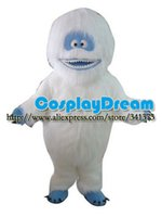 Vente en gros de haute qualité Abominable Snowman mascotte Costume, bande dessinée Yeti costume de mascotte animale Caractère adultes Chirstmas costume de mascotte