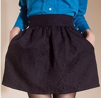 Cheap 2014 New Woman Autumn Winter Puff Skirt High Waist Bust Skirt Ball Gown Short Skirts Plus Size Female Bud Skirts With Pocket