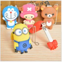 Wholesale New Arrival Kids Nail Clippers Cartoon Nail Minion Clippers mixed colors Trimmers Women Nail Tools