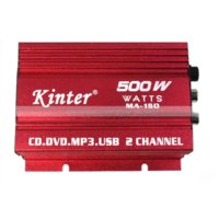 Cheap Kinter MA-150 2 Channels HI-FI Stereo Red Mini Power Amplifier+Cable ipod MP3 USB compatible car usb sd memory card reader