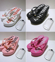 pink ladies shoes - Summer Women Shoes Lady High heeled Shoes Fashion Letter Printed Slipper Ms Shoes Beach New Fashion Flip Flops Slippers XZ004