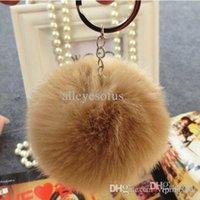 keychina - fake rex rabbit fur ball keychain cm cm diameter fur ball womenmen children accessories Fur Pom Keychina handbag keyring
