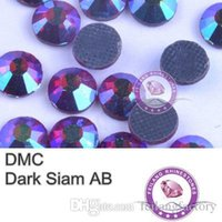 Wholesale DMC SS6 SS30 pack Good Quality Dark Siam AB Flat Back Round Strass Hotfix Rhinestones