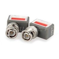 Wholesale 2x CCTV Ch Passive Video Balun UTP BNC Cat5 Transceiver Receiver Transmitter
