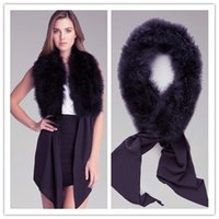 Wholesale Women New Bow Tie Feather Tie Front Collar Warm Tie For Women Warm Fashion Sexy Scarf