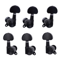 Wholesale A Set R3L Black Locked String Guitar Tuning Pegs Tuners Machine Heads for Folk Acoustic Electric Guitar MU0874