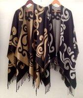 poncho shawl - Fashion Wool Blend Tassel Scarf Hooded Open Poncho Oversized Wrap Shawls