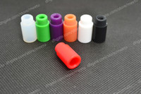 Wholesale Silicone Mouthpiece Cover Silicon Drip Tip Disposable Colorful Rubber Test Tips Cap Atlantis Tank mini subtank plus Subtank Mini