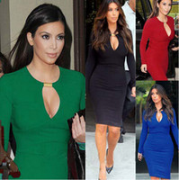 Wholesale New Trendy Autunm Fashion Womens Optical Illusion slimming Stretch Cocktail Long Sleeve bodycon Business Sheath Shift Leopard Pencil Dress