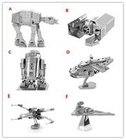 Wholesale DIY D Models Star Wars Toys ATAT Tie Fighter Kits Styles Star Wars Action Figures For Kids Chirstmas Gift