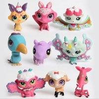 Wholesale 2 quot Littlest Pet Shop LPS Animals Figures Toy Cute Plastic Toys set Collection Kids Gifts