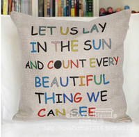 beautiful things - Fluid letter pillow beautiful thing pillow case pillow cover let us lay in the sun and count