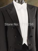best brands pants - Custom Brand New cool Groom Tuxedos Men Wedding Dress Bridegroom Suit Best man Suit swallow tailed coat Jacket Pants tie vest