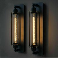 Wholesale Loft E27 edison wall lamp vintage wall lamp dining room wall light Industrial wrought iron wall lamp