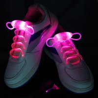 Wholesale 2016 New LED Shoe Flashing shoelace light up Disco Party Fun Glow Laces Shoes pairs Halloween Christmas gift Free DHL FedEx