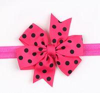 big head photography - Newborn baby girl headband big bow dot Butterflies Lolita girl Head bow hair accessory photography props in a L123