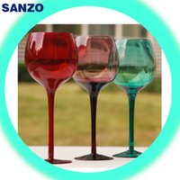balloon red wine glass - 2016 Sale Real Wine Glass Suit Wine Cup Sanzo Tazas Whiskey Glass S of Customized High end Color Glass Balloon Wine Hand Blown Goblet of Red