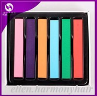 Wholesale 6 Colorful Chalk Hair Dye non toxic colors hair chalk soft pastel chalk for hair extension manufacturers