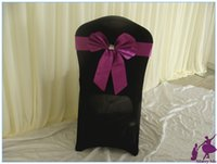 big leather chairs - Big bow Wedding Chair Sashes Leather Wedding Chair Bands for Party Banquet