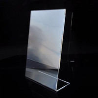 Wholesale Modern Design Top Quality Acrylic Poster Menu Holder Leaflet Display Stands Name Holder A4 New Fit For Hotel Restaurant