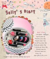Wholesale Cosmetics Pretend Facial Sponge Makeup Brushes Little Cosmetics Pretend Play Makeup Toy Set with PURSE and LIP Gloss