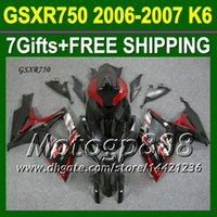 gsxr 600 fairing - 7gifts Cowl Fit SUZUKI K6 HOT Dark red black GSXR750 Free Custom P10446 GSXR GSX R750 GSXR Fairings Kits red