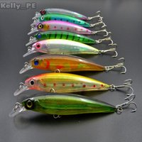 3d lure eyes - Fishing Bait Laser Minnow Plastic Hard Lure D Lifelike Eyes Swimbait MM G With High Carbon Steel Hook Colors
