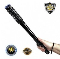 baseball batting - CREE Q5 LED Flashlight Spiked Mace Baseball Bat Torch Long Lamp Security Military Led Flashlight Torch Club Light Lamp Modes Torchlight