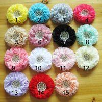 ribbon flowers - Girls hair accessories hair flower infant flower headband baby flower handmade hair clip flower artificial ribbon flower