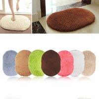 Wholesale Fashion Design Hot Sale New Rotatable of Super Magic Slip Resistant Pad Room Oval Carpet Floor mats CM
