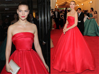 arizona pictures - Red Carpet Ralph Russo Celebrity Dresses Met Gala Arizona Muse Evening Dresses A ine Strapless Satin Simple Dresses Evening Wear Prom