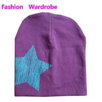 Wholesale HOT sale lowest price fashion star baby hats beanies winter hats children hats cute kids cap