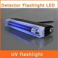 bank note detector - Handheld UV Leak Detector Ultra Violet Flashlight LED Torch Light Bank Note Test Currency White LED Flashlight
