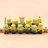 Cheap Anime Cartoon Despicable Me 2 Minions PVC Action Figures Toys Dolls 12pcs set Christmas Gifts by DHL