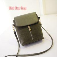Wholesale New Korean fashion trend matte leather vertical zipper handbag shoulder diagonal packet