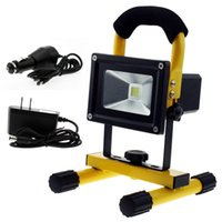 Wholesale Portable W COB LED Work Light Super Bright Yellow Rechargeable Li Ion Outdoor Camping Flood Light Lamp