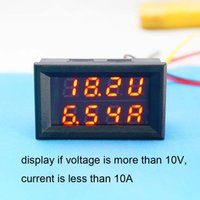 Wholesale DC V A Voltmeter Ammeter Red LED Panel Digital Amp Volt Gauge Meter KK Y