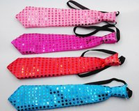 Wholesale Novelty Gag Toys Light Up Toys Flashing Neck Tie Light Up toy Newest Led Luminous Mixcolor Fashion Tie Party And Dancing Stage