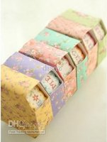 Wholesale Multi color Pastel Masking Sticker Washi Tape Flowers stickers Stationery
