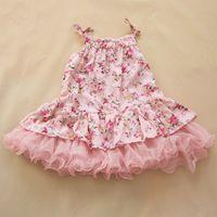 Summer baby flower dress - 2015 Summer New Arrival Fashion Years Baby Girl s Cotton Floral Suspender Dresses Children s Flower Sleeveless Dresses Kids Girls Dress