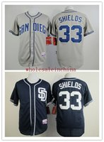 baseball shield - PADRES Baseball Jerseys Men SHIELDS White Grey COFFEE Camo Blue Jerseys stitched Top quality Mix Order Free Fast Shipping