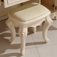 bedroom furniture stools - Paphia French dressing stool European carving factory price Foshan furniture JLW801
