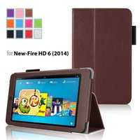Wholesale Kindle leather case foldable Stand PU Leather Case Kindle Fire HD HD7 Kindle Voyage