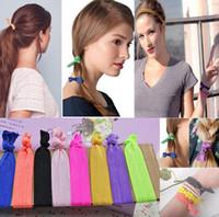 Wholesale Colorful Hair Ties Simple Style Elastic Holder Headbands Elestic hairbands hair accessories HW