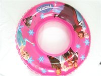 Wholesale by FEDEX Hot Frozen Anna Elsa PVC Inflatable Swimming Ring Life Ring Buoy For Kids